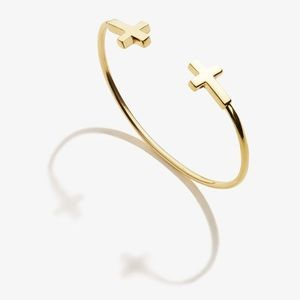 Alex and Ani Spiritual Armor Cross Cuff Bangle